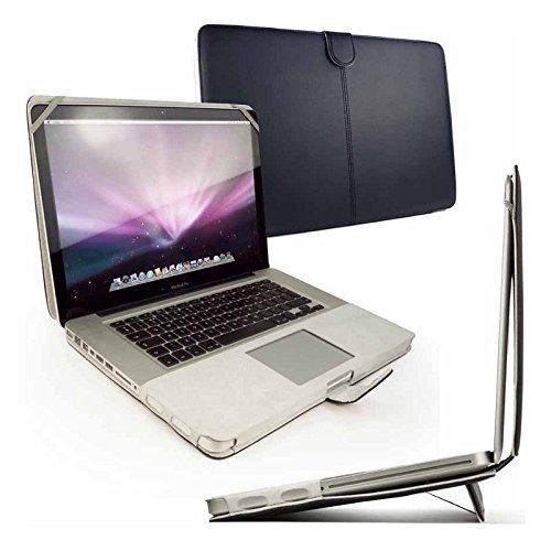 """Tuff-Luv Faux Leather case cover with integrated stand for MacBook Pro Retina 13"""" - Black"""