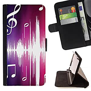 DEVIL CASE - FOR Sony Xperia Z1 Compact D5503 - Music Pink - Style PU Leather Case Wallet Flip Stand Flap Closure Cover