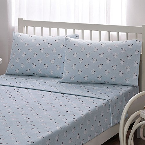 [Brielle 100-Percent Cotton Flannel Sheet Set, Full, Snowman] (Snowman Flannel)