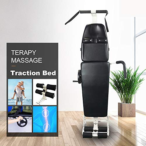 Traction Table - ECO-Worthy New Massage Bed Table Cervical and Lumbar Traction Bed Body Stretching Device Equipment Folding Therapy SPA Bed Facial Tattoo