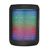 Bluetooth Speakers, YEONPHOM Super Bass Wireless Portable Outdoor Stereo Speaker with LED Colorful Light Build-in Mic Hands-Free Compatible with iPhone,iPad,iPod,Android Smart-phone,Latops(Black)