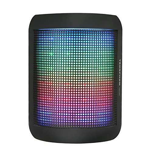 Bluetooth Speakers, YEONPHOM Super Bass Wireless Portable Outdoor Stereo Speaker with LED Colorful Light Build-in Mic Hands-Free Compatible with iPhone,iPad,iPod,Android Smart-phone,Latops