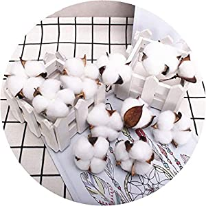Get-in Cotton Head Artificial Flower Natural Dried Flower Cotton Home Christmas Supplies Decor DIY Garland Wreath Flower Wall Material 71