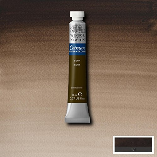 Newton Cotman Watercolour Tube - Winsor & Newton Cotman Watercolour Paint - 8ML Tubes - Sepia