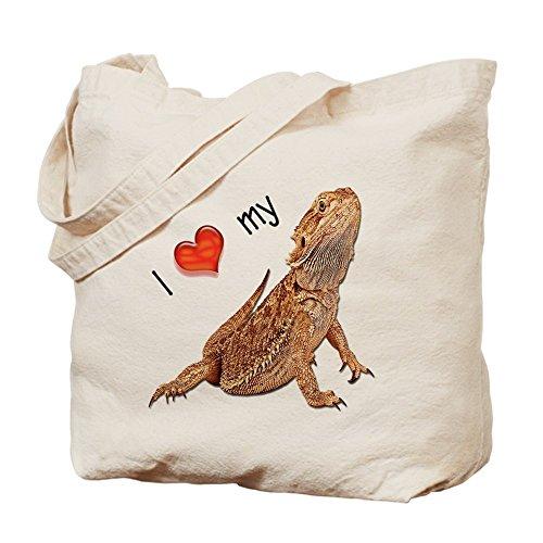 CafePress–I Luv mi dragón Barbudo–Gamuza de bolsa de lona bolsa, bolsa de la compra