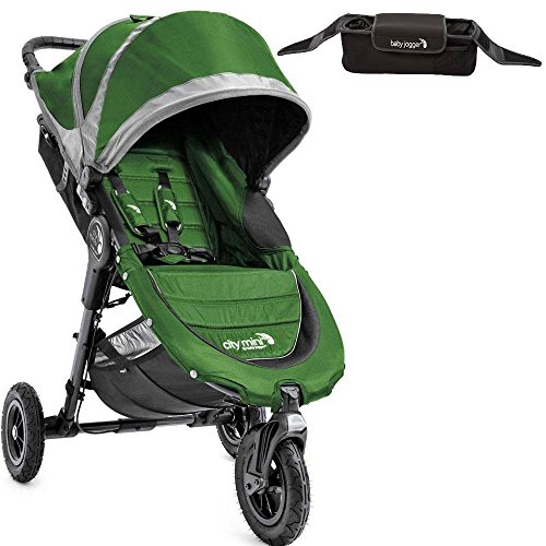 Baby Jogger 1959405KT- City Mini GT Single Stroller With Parent Console- Evergreen Gray by Baby Jogger