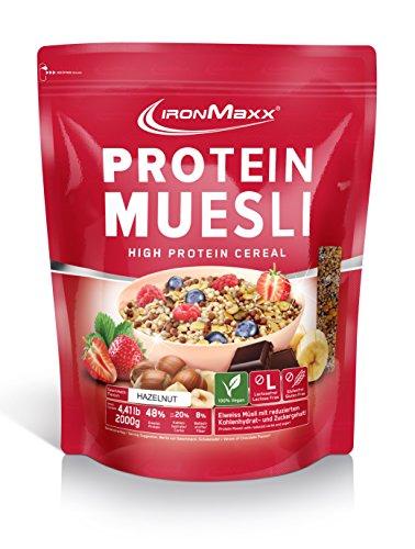 IronMaxx Protein Müsli - Haselnuss, 1er Pack (1 x 2 kg)
