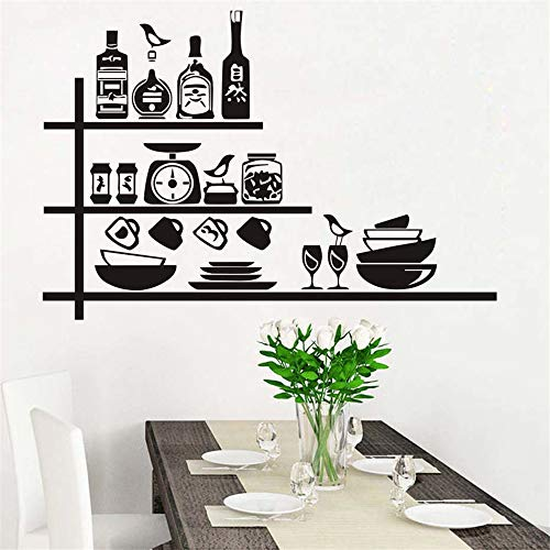 umanel Wall Sticker Lettering Quotes and Saying Crockery Spices On Shelf Creative for Kitchen Dining Room -