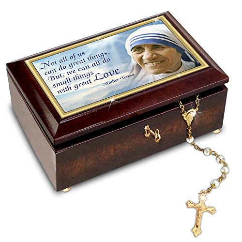Musical Rosary Box (Mother Teresa Music Box with Rosary and Canonization Card by The Bradford Exchange)
