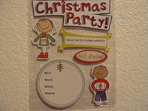 Christmas Party Soft Spoken 3d Embellishment