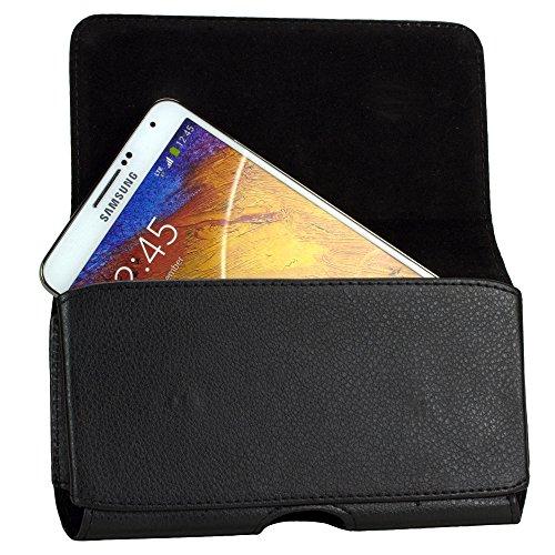 Custodia orizzontale con clip per cintura e (12,7 cm - 12,7 cm smartphones) per Samsung Galaxy S7 Edge, Medion S5504, Google Nexus 5X, Aqua Sony Xperia M4, LG G4, Stylus LG G4, HTC One M9 +, ZTE lama