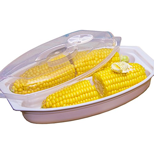 Microondas Vapor de maíz, maíz cocina bandeja: Amazon.es: Hogar