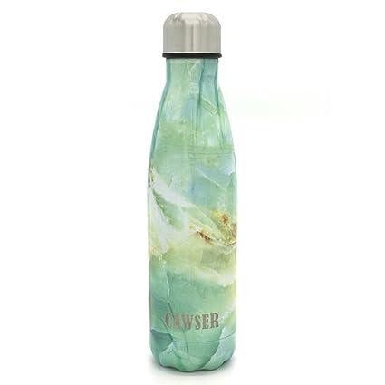 CAWSER 17oz Botella de Agua De Acero Inoxidable Para Mantener sus Bebidas Calientes 24H y Frías 12H, Reutilizable Botellas No Es Fácil Caer, ...