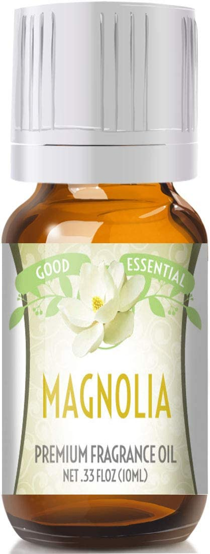 Magnolia Scented Oil by Good Essential (Premium Grade Fragrance Oil) - Perfect for Aromatherapy, Soaps, Candles, Slime, Lotions, and More!