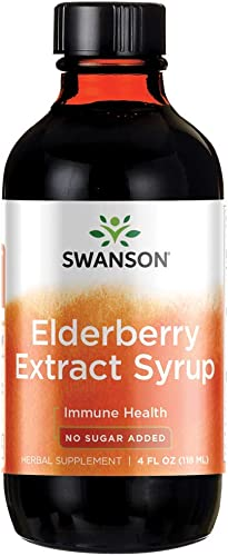 Swanson Elderberry Extract Syrup 4 fl Ounce 118 ml Liquid