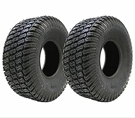 Juego de dos - 13x5.00-6 césped 4ply neumáticos cortadora de césped de hierba paseo 13 500 6 neumáticos en el cortacéspedes