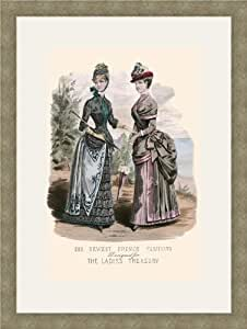 Newest French Fashions - 1884 12x18 Archival Ink-JetPprint, Matted and Framed