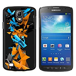 Qstar Arte & diseño plástico duro Fundas Cover Cubre Hard Case Cover para Samsung Galaxy S4 Active i9295 (Patrón Geometría abstracta del Cyber)