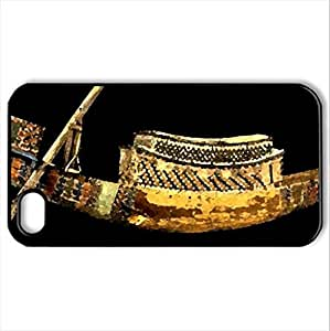 Ancient Egypt - Case Cover for iPhone 4 and 4s (Ancient Series, Watercolor style, Black)