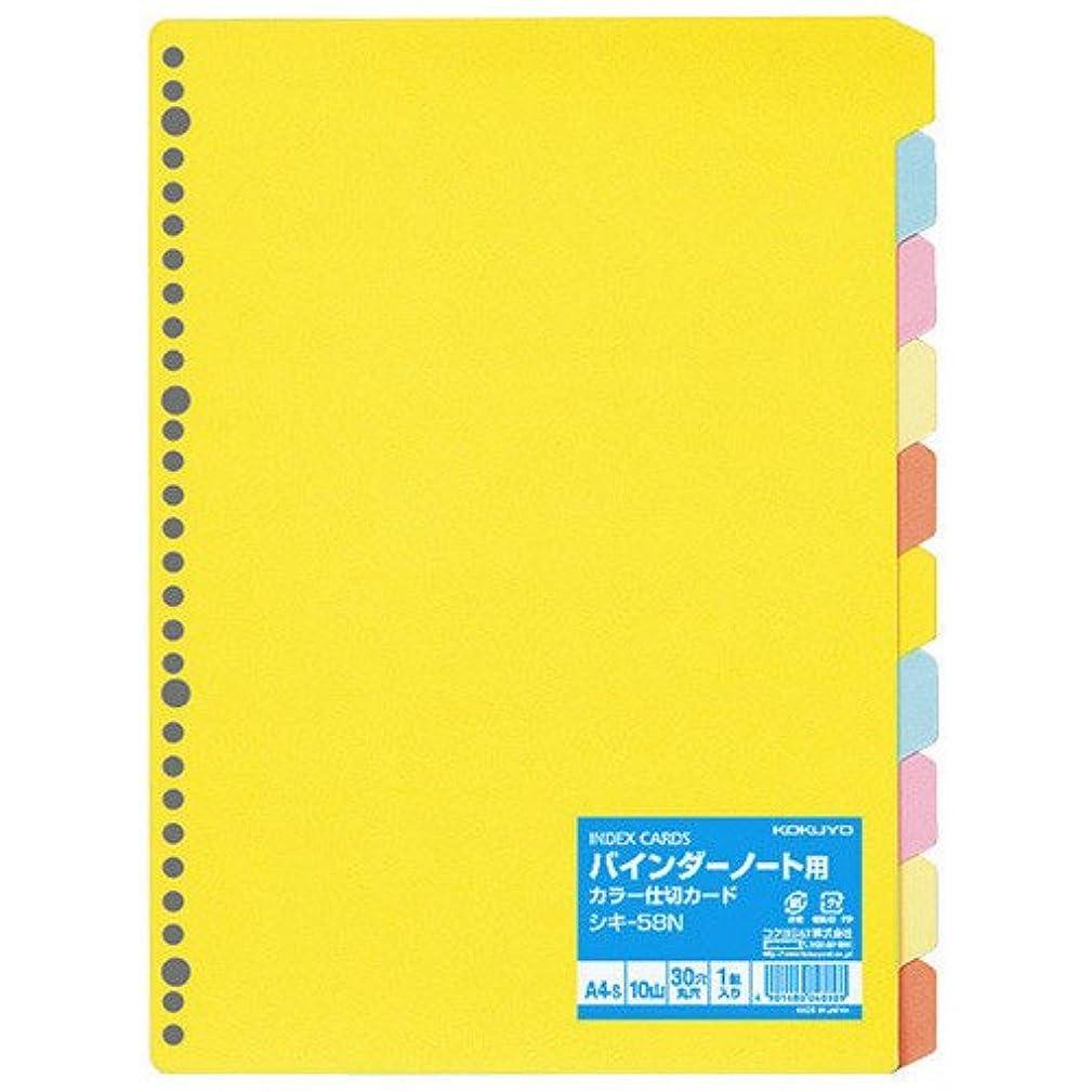 プログラム愚かビュッフェコクヨ ファイル インデックス 仕切カード PP 12山 2穴 1組 A4 シキ-P80