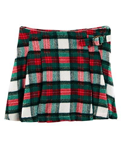 Carter's Little Girls' Flannel Plaid Short Skirt (5T, (Flannel Kids Shorts)