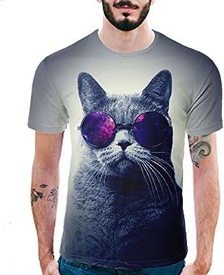 Styledresser Camiseta para Hombre T Shirt Hombre Camisetas de Hombre Camisas para Hombres Tees Tops Camisa de Hombre Manga Corta con 3D Estampado Casual Verano, Hombre, Bianca-C, XXXL: Amazon.es: Deportes y aire