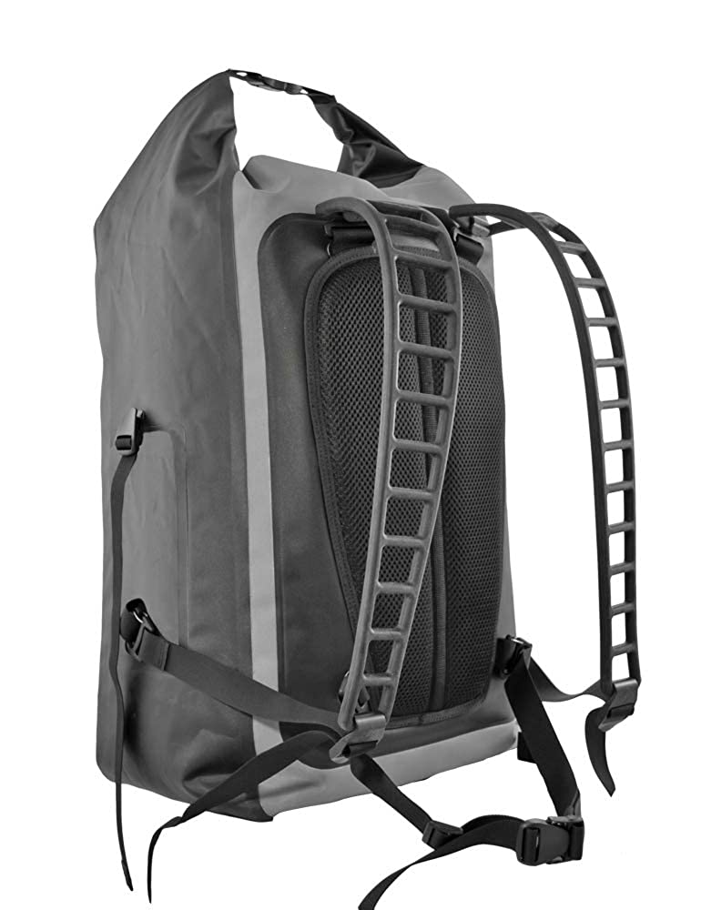 Image of Dry Bags Seattle Sports LocoDry WETTREK PacknModPok - Heavy Duty 56L Waterproof Dry Bag Backpack with Breathable Silicone Shoulder Straps, Gray/Black, Large