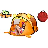 Kids Pop Up Cute Tiger Animal Play Tent & Ball Pit