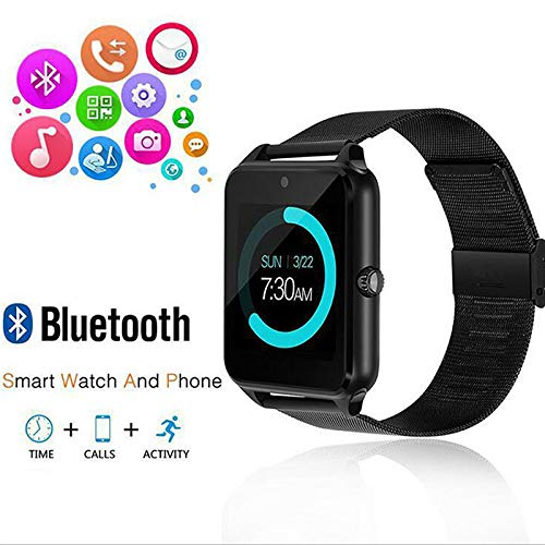 ZEERKEER Bluetooth Smartwatch Fitness Tracker with 1.54 Inch IPS HD LCD Screen with Phone Calls for Android and iOS Sport Watch Pedometer for Women Men Kids