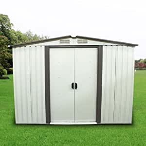 New MTN-G 8' x 6' Outdoor Garden Storage Shed Tool Utility Backyard Lawn Building w/Door
