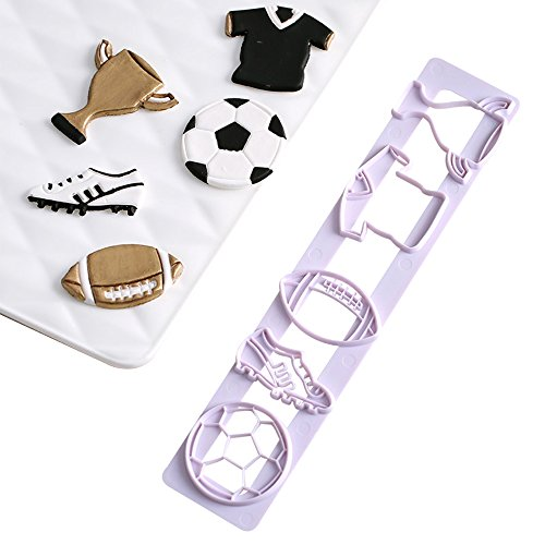 Soccer Football Series Cookie Biscuit Cutters Fondant Cake Cookie Cutters-Food Grade ABS Plastic - Cookie Soccer Ball