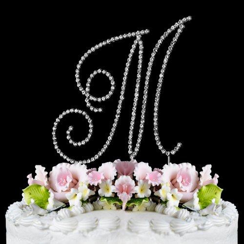 RENAISSANCE MONOGRAM WEDDING CAKE TOPPER LARGE LETTER M