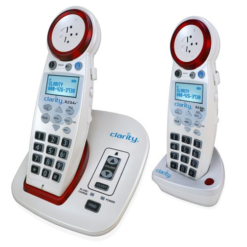 Clarity XLC3.4+ DECT 6.0 Extra Loud Big Button Speakerphone with Talking Caller ID with Additional XLC3.6+ Handset(s) (XLC3.4+ with 1 XLC3.6+ Handset)