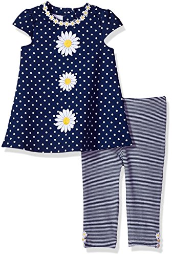 little me para bebé niña vestido Legging Set, 4T, Daisy New, 24 meses