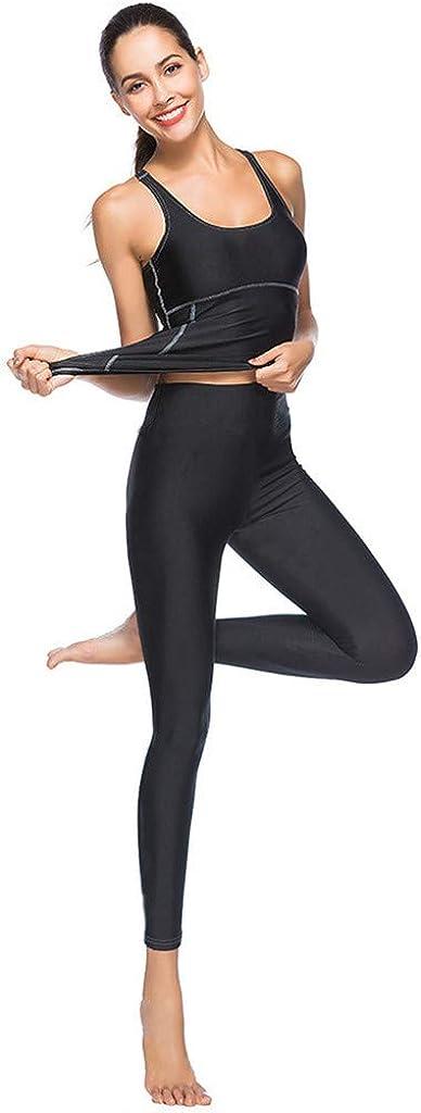 Top SUDADY Tuta Ginnastica Donna Yoga Sportivi 2 PCS Pantaloni Leggings Jogger Sport Pilates Jeggings Tute Intera Gym Completo Palestra Tracksuit Abbigliamento Fitness