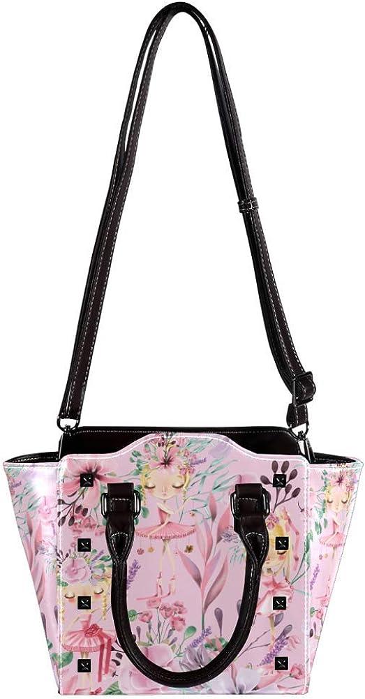 Women handbag Soft PU Leather Fashion Rivet bag Handbag with Shoulder Strap Crossbody Bag Cute Ballet Girls Ballerinas