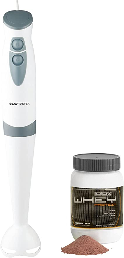 Laptronix Hand Blender Food Processor Mixer 2-Speed 200W Stainless Steel Blades