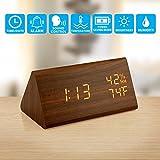 Best Table Clocks - Oct17 Wooden Alarm Clock, Wood LED Digital Desk Review