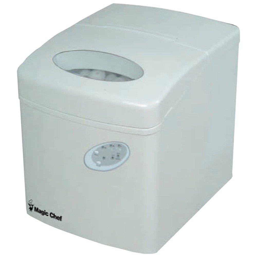 "14.5"" W 27 lb. Portable Ice Maker Finish: White"