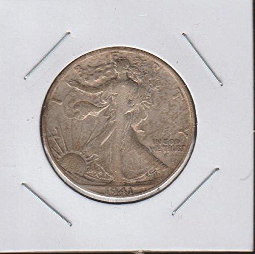 1941 D Liberty Walking (1916-1947) Half Dollar Choice Fine Details (1941 Liberty Quarter)