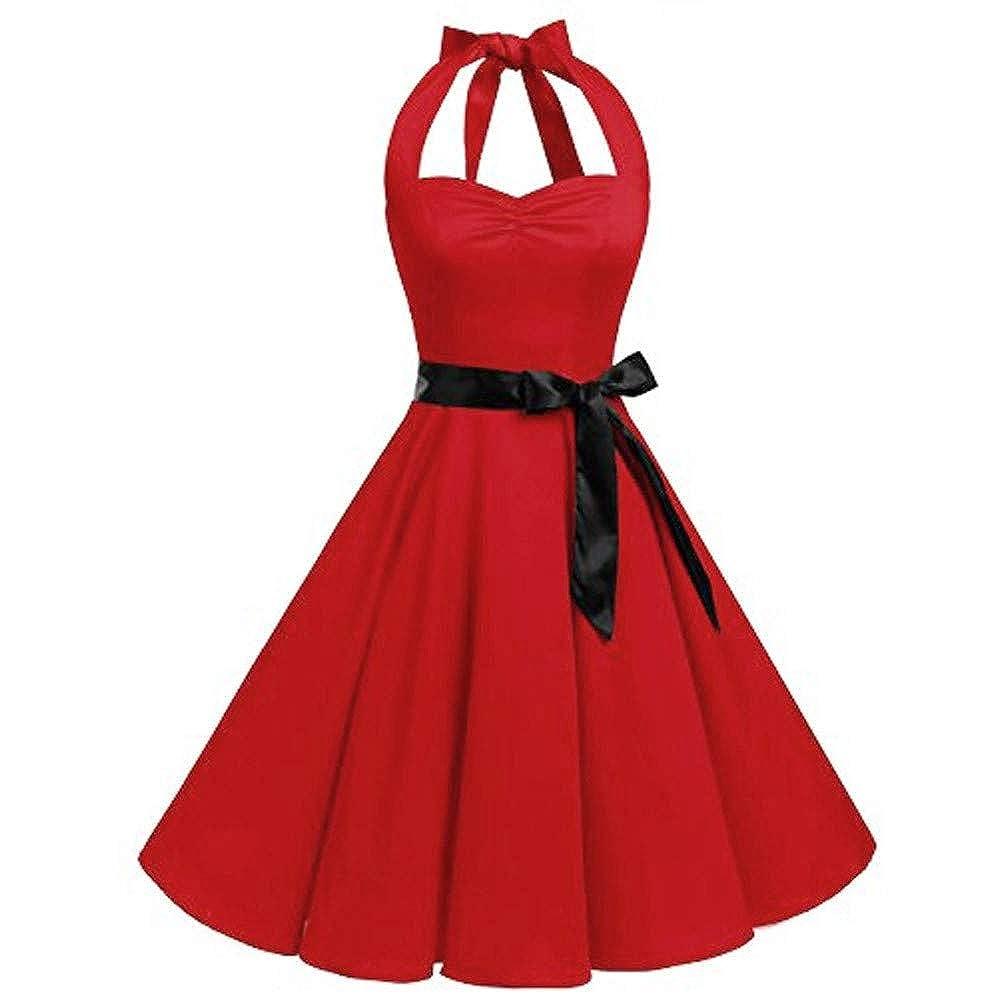 OcEaN Dresses Women Work Hepburn Vintage Skirts Swing Pleated Dress ON-123