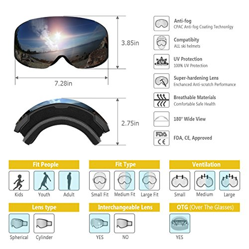 facfb653761f findway Ski Goggles