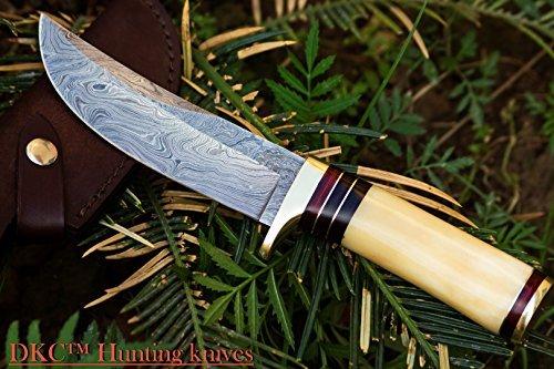DKC Knives (14 5/18) SALE DKC-30 ALASKA Damascus Steel Hunting Bowie Knife 10.5