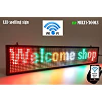 LED display MIX color with WiFi connection , LED scrolling message sign, BRIGHT and in new light auminum housing