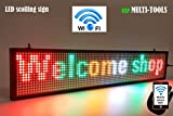 exp MULTI-TOOLS LED display MIX color with WiFi connection, LED scrolling message sign, BRIGHT and in new light auminum housing