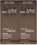 John Frieda Luminous Color Glaze Brilliant Brunette Luminous, 6.5 oz, 2 pk