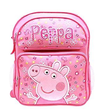 "Medio mochila – Peppa Pig – Rosa Flores 14 ""escuela ..."