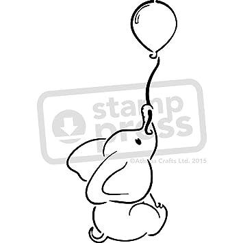 Stamp Press A4 Elefanten Mit Ballon Wandschablone Vorlage