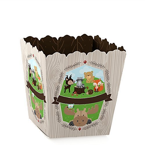 Woodland Creatures - Party Mini Favor Boxes - Baby Shower or Birthday Party Treat Candy Boxes - Set of 12