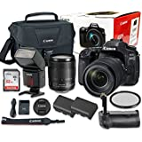 Canon EOS 80D Digital SLR Camera Bundle with EF-S 18-135mm f/3.5-5.6 IS USM Lens NANO Autofocus System + SanDisk 32GB Ultra Class 10 SDHC + Accessory Kit